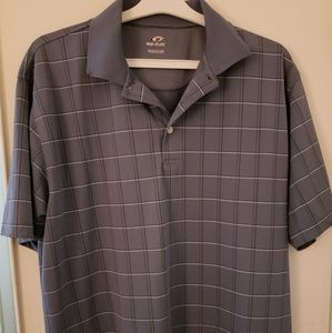 Top Flite large Polo Top blue geometric golf top